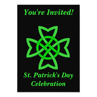 St Patricks Day Irish Celebration Celt Knot Card