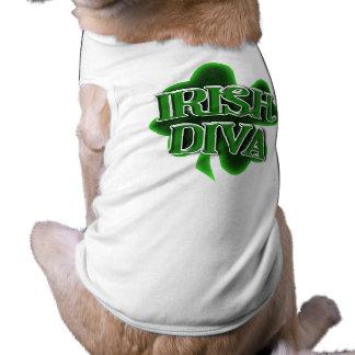 St. Patrick's Day Irish Diva Sleeveless Dog Shirt