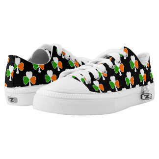 St Patrick's Day | Irish Flag Shamrock Low Tops