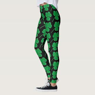 St. Patrick's Day | Irish Green Shamrocks Pattern Leggings