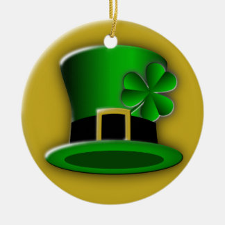 St Patrick's Day Irish Hat Standard Round Ornament