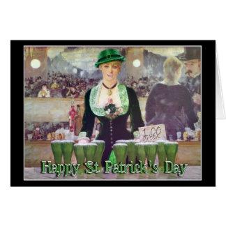 St Patrick's Day Irish Lass Bartender Card
