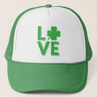 St. Patrick's Day Irish Love Green Shamrock Trucker Hat