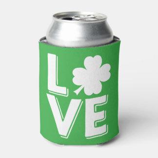 St. Patrick's Day Irish Love Shamrock Modern Can Cooler