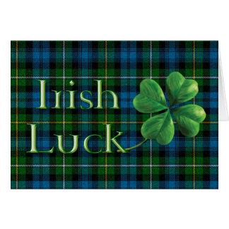 "St. Patrick's Day ""Irish Luck Tartan"" Card"