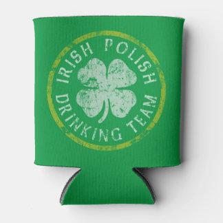 St Patricks Day Irish Polish Drinking Team Can Cooler