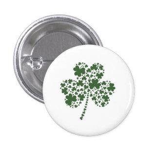 St Patrick's Day Irish Shamrock Clover 3 Cm Round Badge