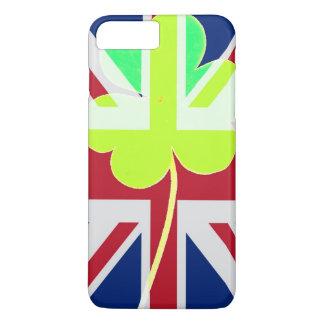 St. Patrick's Day Irish Shamrock Clover UK Flag iPhone 8 Plus/7 Plus Case