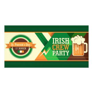 St Patrick's Day Irish Shamrock Party Card