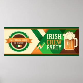 St Patrick's Day Irish Shamrock Party Poster