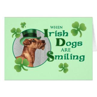 St. Patrick's Day Irish Terrier Card