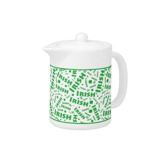 St Patrick's Day Irish Typography Collage Pattern