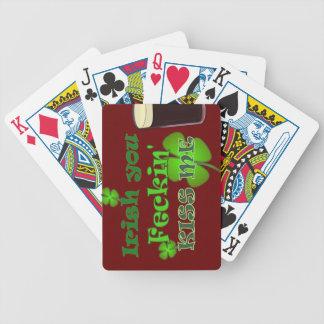 St Patricks Day - Irish you Feckin Kiss Me Poker Deck