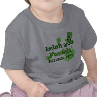 St Patricks Day - Irish you Feckin Kiss Me T-shirts