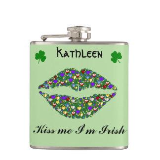 St.Patrick's Day Kiss Me I'm Irish Hip Flask