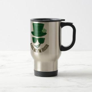 St Patrick's day kiss Me I'M Irish Travel Mug