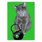 St. Patrick's Day kitten card