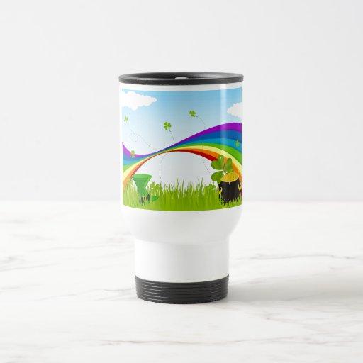 St. Patrick's Day Landscape Coffee Mugs