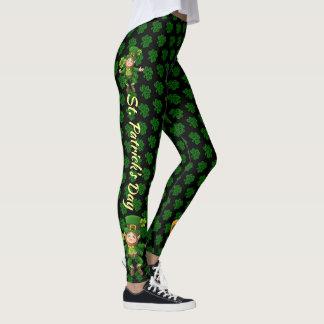 St Patrick's Day Leggings Green Beer Day Pants