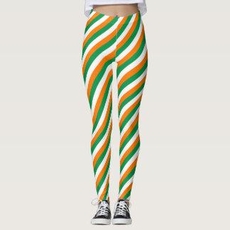 St Patricks Day leggings with Irish flag colors