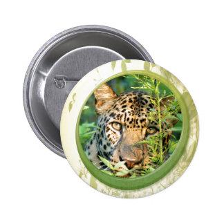 St. Patrick's Day-Leopard Pinback Buttons