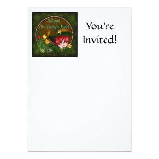 St. Patrick's Day Leprechaun 13 Cm X 18 Cm Invitation Card