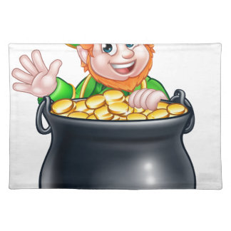 St Patricks Day Leprechaun and Pot of Gold Placemat