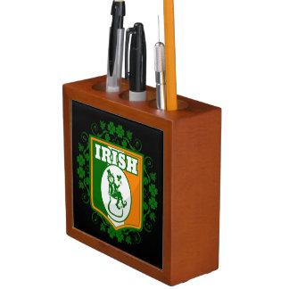 St Patricks Day Leprechaun Gold Desk Organiser