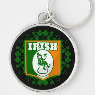 St Patricks Day Leprechaun Gold Key Ring