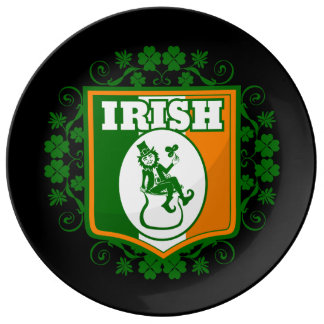 St Patricks Day Leprechaun Gold Plate