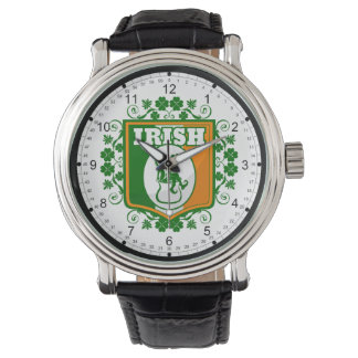 St Patricks Day Leprechaun Gold Watch
