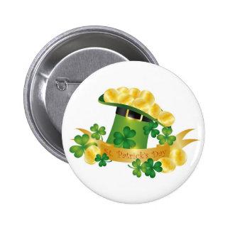 St. Patricks Day Leprechaun Hat Button