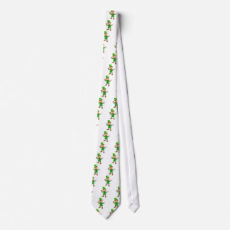 St Patricks Day Leprechaun Holding Pipe Tie