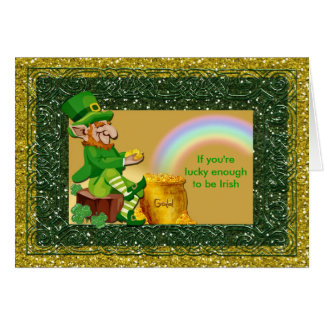 St. Patrick's Day Leprechaun Lucky Card