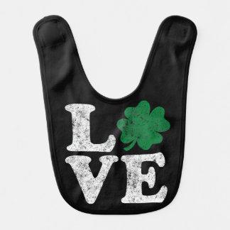 St Patrick's Day LOVE Shamrock Irish Bib