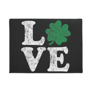 St Patrick's Day LOVE Shamrock Irish Doormat