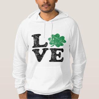 St Patrick's Day LOVE Shamrock Irish Hoodie