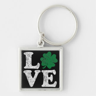 St Patrick's Day LOVE Shamrock Irish Key Ring