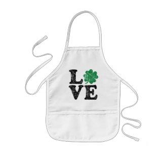 St Patrick's Day LOVE Shamrock Irish Kids Apron
