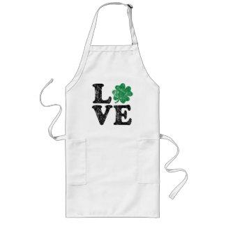 St Patrick's Day LOVE Shamrock Irish Long Apron