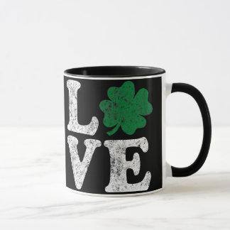 St Patrick's Day LOVE Shamrock Irish Mug