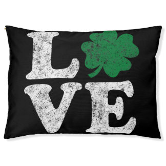 St Patrick's Day LOVE Shamrock Irish Pet Bed