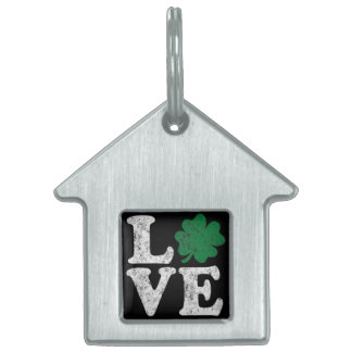 St Patrick's Day LOVE Shamrock Irish Pet ID Tags