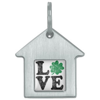 St Patrick's Day LOVE Shamrock Irish Pet Tag