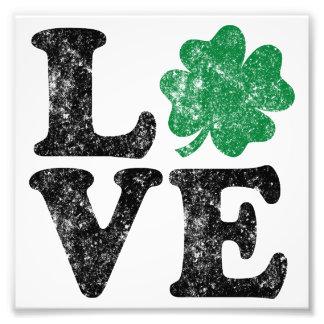 St Patrick's Day LOVE Shamrock Irish Photo Print