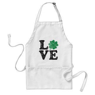 St Patrick's Day LOVE Shamrock Irish Standard Apron