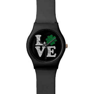 St Patrick's Day LOVE Shamrock Irish Watch