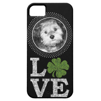 St Patricks Day Love with Irish Shamrock and Photo Case For The iPhone 5