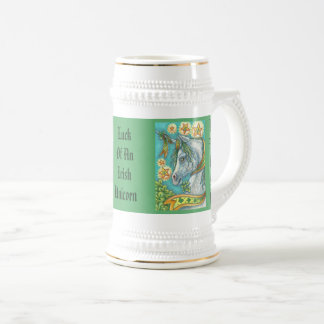 St. Patrick's Day LUCK OF AN IRISH UNICORN STEIN