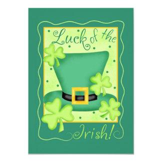 St. Patrick's Day Luck of the Irish Invitation